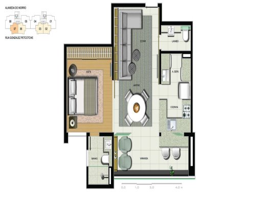 Foto 4 apartamento 1 quarto belvedere - cod: 100473