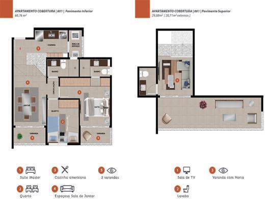 Cobertura de 2 dormitórios em Nova Granada, Belo Horizonte - MG