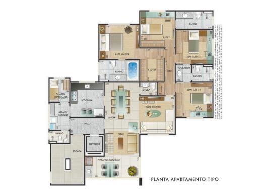 Foto 3 apartamento 4 quartos castelo - cod: 13196