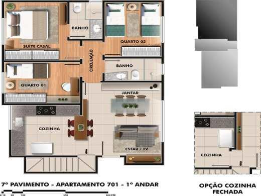 Cobertura de 4 dormitórios à venda em Sao Lucas, Belo Horizonte - MG