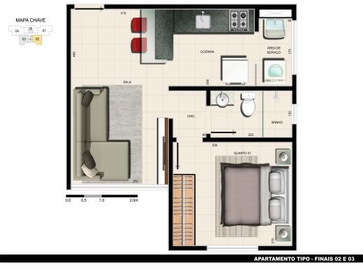 Apto de 1 dormitório à venda em Dona Clara, Belo Horizonte - MG